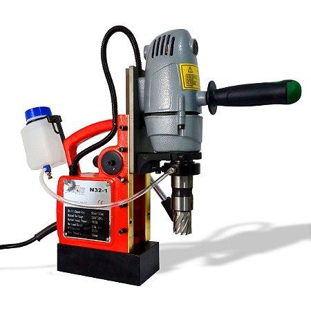 FURADEIRA COM BASE MAGNÉTICA - 32 MM - 1050 WATTS COM ACESSÓRIOS - DETUB