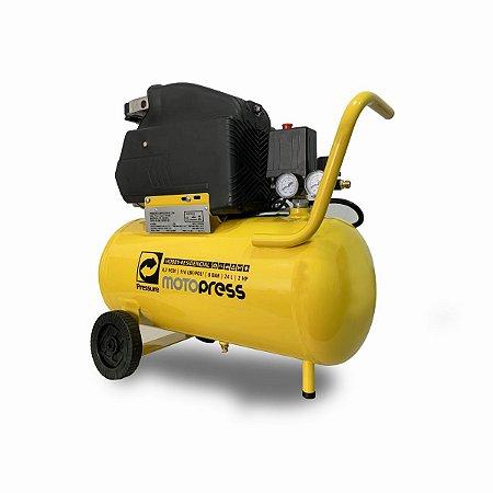 Motocompressor de Ar 24 Litros - 8 PCM - 2 HP - 110V - PRESSURE
