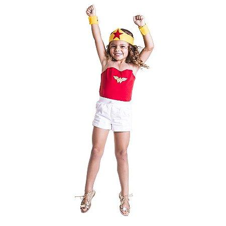 Camiseta Infantil Menina Maravilha
