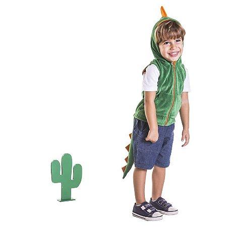 Colete Infantil Dinossauro Verde