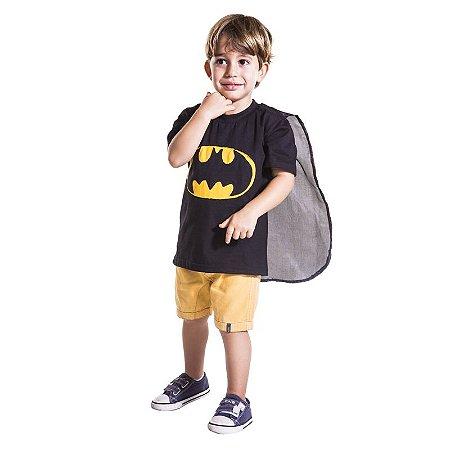 Camiseta Infantil Herói Morcego