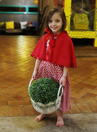 Vestido Infantil Avental Chapeuzinho Vermelho