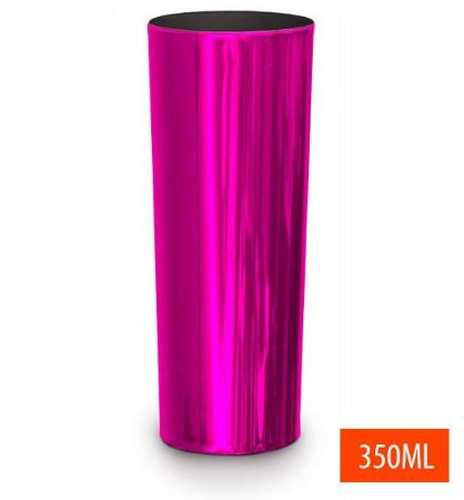 Copo Long Drink Metalizado Rosa