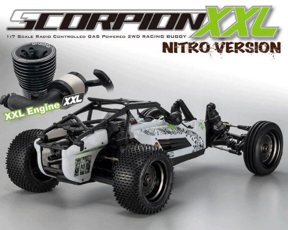 Automodelo Buggy Scorpion XXL Nitro 1/7 Branco
