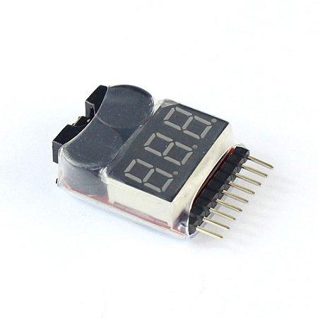 Medidor volt de baterias lipo 2S/8S com alarme