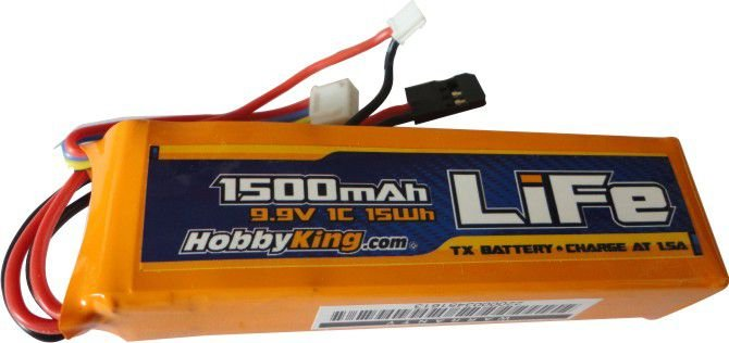 Bateria de Life 1500mah 9.9v 1C - HobbyKing