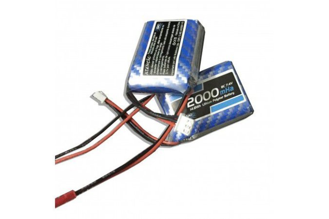 Bateria Lipo 7.4v 2s 2000mah RX