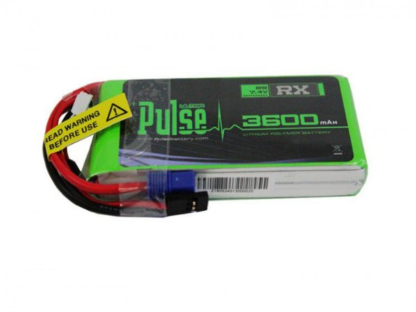 Bateria de Lipo Pulse 3600mah 7.4v 2S 15C p/X
