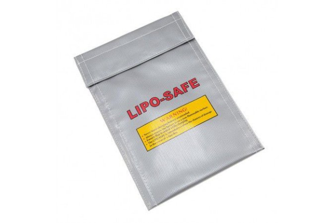 Bolsa anti-chama para Bateria Lipo - 20x10cm