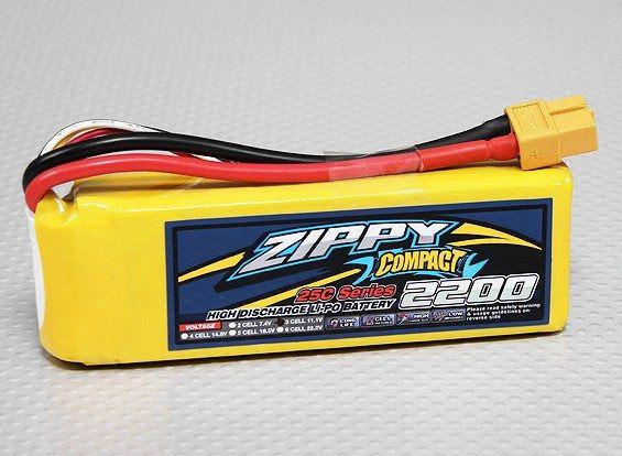 Bateria Lipo 11.1v 3S 2200mah 25C - Zippy Compact