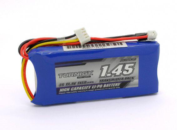 Bateria Lipo 1450 mah 11.1v 3S para Rádio TX - Turnigy