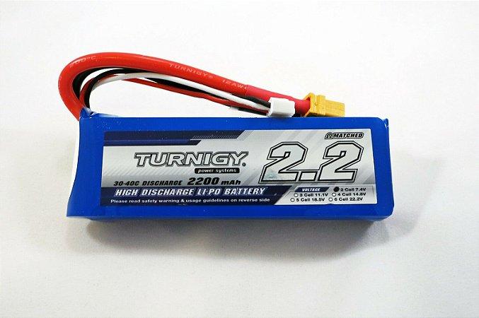Bateria de Li-Po 2200mah 7.4v 2S 25-50C Turnigy
