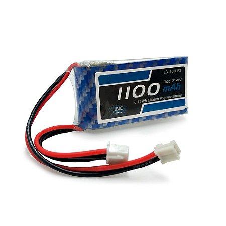 Bateria Lipo - 7.4V - 2S - 1100mAh - 30C/60C - JR