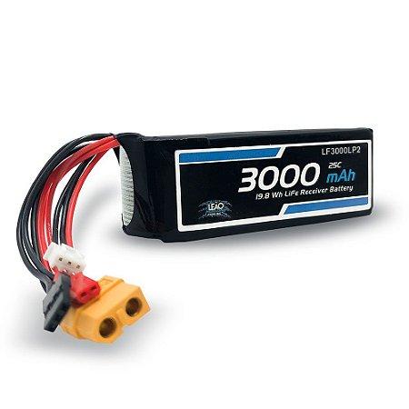 Bateria Life - 6.6V - 2S - 3000mAh - 25C - Futaba/JST/XT60
