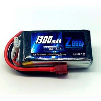 Bateria Lipo 11.1v 1300 mah 35C - ZEEPOWER - Conector JST