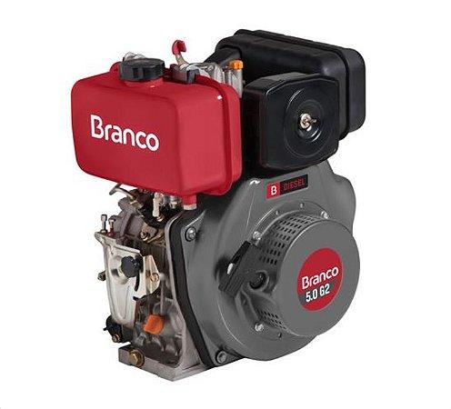 Motor A Diesel Branco BD5.0G2 5Cv 211cc Partida Manual