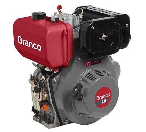 Motor A Diesel Branco BD-7.0 Partida Elétrica 296cc 7Cv