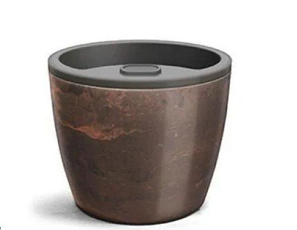 Vaso Autoirrigável Elegance  03 Café Imperial 12,5cm x 15 cm