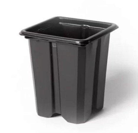 Pote de Plástico flexível Quadrado N 8 Nutriplan PRETO
