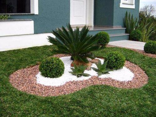 Pedra Decorativa  Branca 5 Kg - Nº 0 - Jardins Vasos
