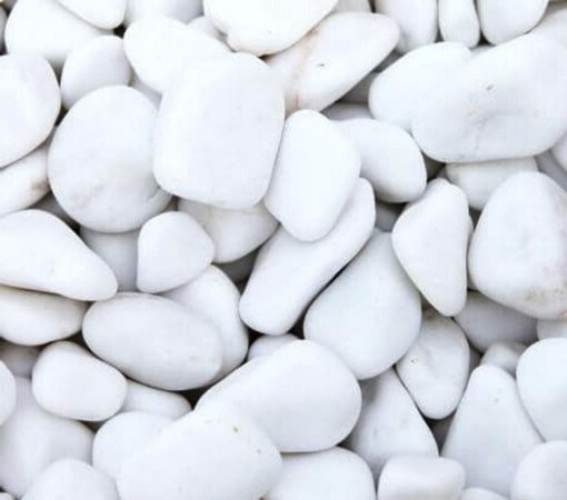 Pedra Dolomita  Branca 10 kg - Nº 1 - Jardins Vasos
