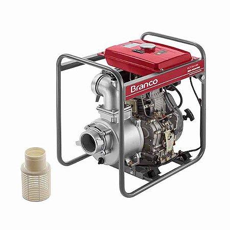 Motobomba A Diesel Branco BD-700 10Cv Partida eletrica