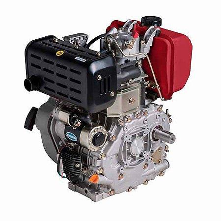 Motor à Diesel BD-10.0 R 10CV 406CC com Redução e Partida Elétrica - BRANCO