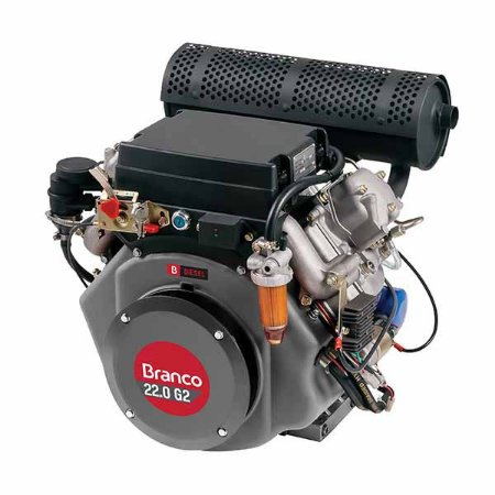 Motor A Diesel Branco BD-22.0G2 22Cv 870cc Partida Elétrica