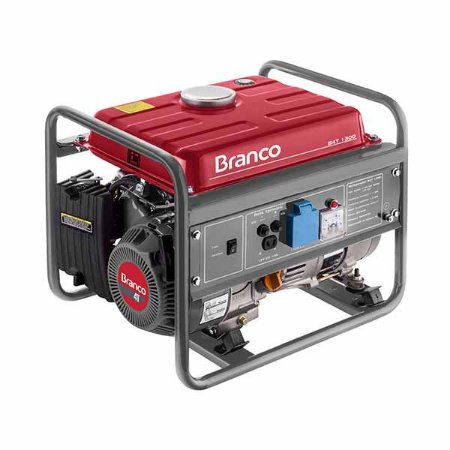 Gerador De Energia Branco B4T-1300 A Gasolina Partida Manual 110V