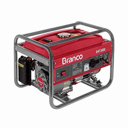 Gerador De Energia À Gasolina Branco B4T-3500 Monofásico 3.5 Kva