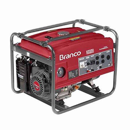 Gerador De Energia Branco B4T-5000L A Gasolina 4.5Kva Partida Manual
