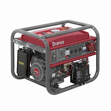Gerador Á Gasolina Branco B4t 8000 E3 220/380v Part Elétrica