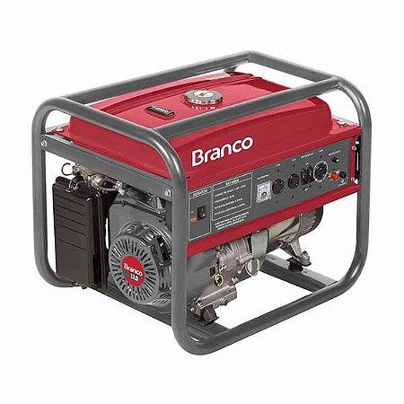 Gerador De Energia Branco B4T-8000 A Gasolina Partida Manual Bivolt