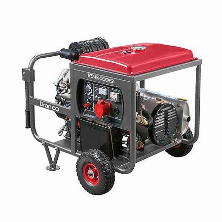 Gerador Branco BD15000E3G2 A Diesel 22Cv 220V Partida Elétrica