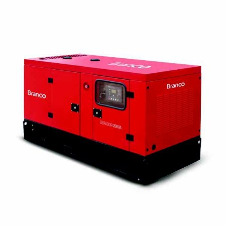 Gerador De Energia Branco BD-26000 ES A Diesel 28.5Kva 2543cc 220V