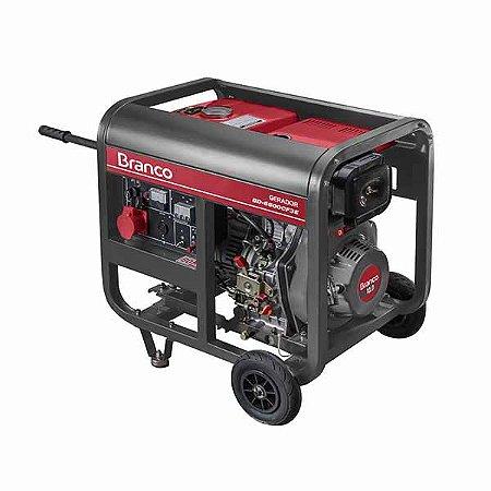 Gerador de Energia a Diesel Monofasico 5Kva 110220V BD-6500 E BRANCO