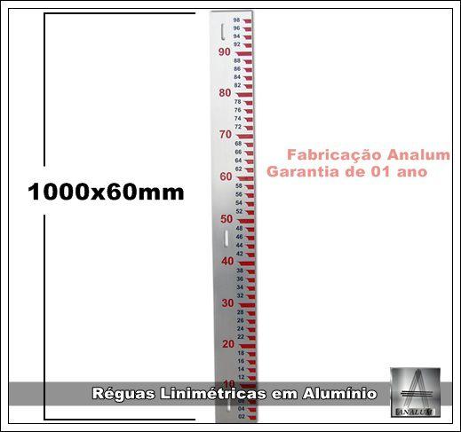 Reguás Linimetricas - Fluviométricas-1000x60x2mm-pronta-entrega