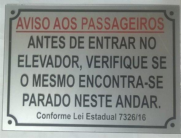 Placas de Sinalização aviso aos passageiros Policarbonato PRONTA ENTREGA 10x14