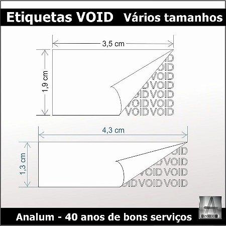 100 - Etiquetas numeradas em poliester metalizado void frete gratis
