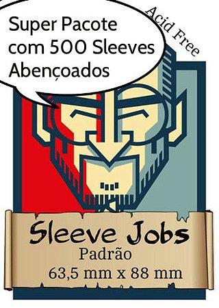 Sleeves Jobs Padrão (63,5x88 mm) Pacote com 500 Sleeves