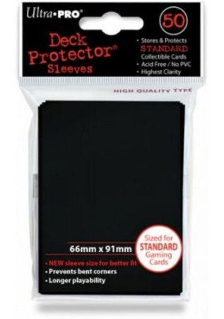 Ultra Pro- Deck Protector Solid (Black/ Preto)