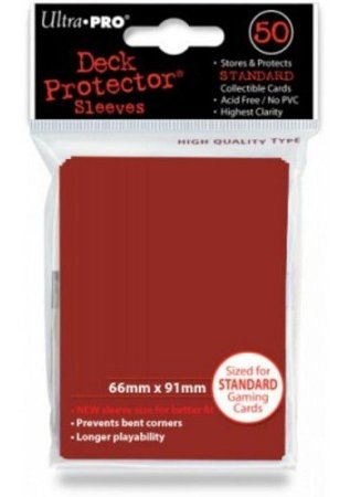 Ultra Pro- Deck Protector Solid (Red/Vermelho)