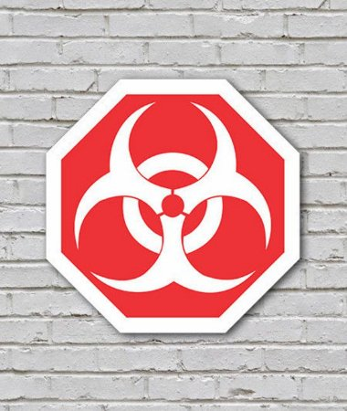 Placa Bio Hazard