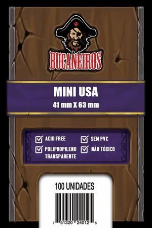Sleeves Bucaneiros Mini USA (41x63mm)