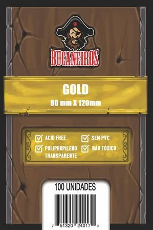 Sleeves Bucaneiros Gold (80x120mm)