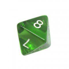 Dado 8 Lados RPG- Verde Transparente 18x22 mm