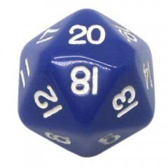Dado 20 Lados RPG- Azul 22x22 mm