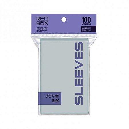 Sleeves Redbox- Padrão Euro (59x92mm)