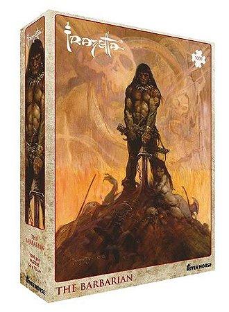 The Barbarian (Quebra-cabeça de Luxo com arte de Frank Frazetta)