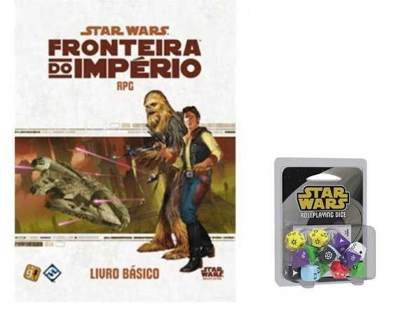 Star Wars RPG- Fronteira do Império: Livro Básico + Dados Oficiais